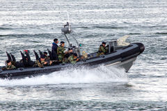 Lancha de carreras de los infantes de marina Imagenes de archivo