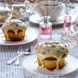 Lanche com queques Fotografia de Stock Royalty Free