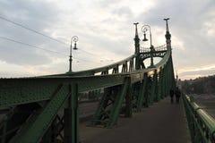 Lanchid在布达佩斯 库存照片