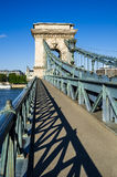 Lanchid or Chain Bridge in Budapest Royalty Free Stock Image