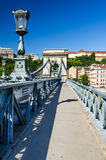 Lanchid or Chain Bridge in Budapest Royalty Free Stock Photos