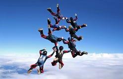 Lanci in caduta libera il modo del lavoro di gruppo 8 immagine stock