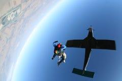 Lanci in caduta libera la caduta libera Fotografia Stock