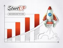 Lanci sul nuovo progetto di affari infographic Fotografie Stock