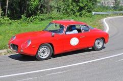 Lancia Appia Zagato - Vernasca Zilveren Vlag 2011 Stock Afbeelding
