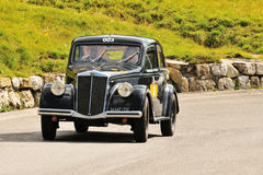 Lancia Aprilia at Passo Falzarego Royalty Free Stock Photo