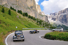 Lancia Aprilia at Passo Sella Royalty Free Stock Images