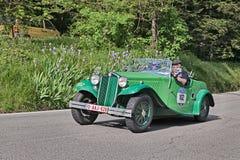 Lancia Augusta Cabriolet (1934) in Mille Miglia 2016 Royalty-vrije Stock Foto