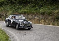 LANCIA Aurelia B20 GT 2000 berlinetta Pinin Farina 1951. Mille miglia 2015 italy history vintage car retro Stock Photography