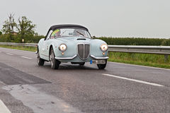 LANCIA Aurelia B24 Spider in Mille Miglia 2013 Royalty Free Stock Images