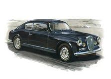 Lancia Aurelia Coupe 1953 illustration de vecteur