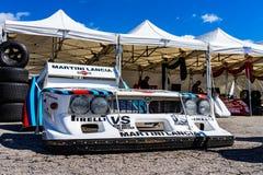 Lancia Beta Montecarlo turbo dans le salon automobile montjuic de circuit de Barcelone d'esprit images stock