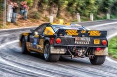 Lancia 037 bieżnego samochodu stary wiec Zdjęcia Royalty Free