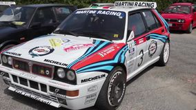 Lancia Delta HF Integral Martini Racing stock video footage