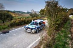 LANCIA DELTA INT samlar den gamla tävlings- bilen 16V 1991 Royaltyfri Bild