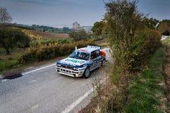 LANCIA DELTA INT samlar den gamla tävlings- bilen 16V 1991 Royaltyfri Fotografi