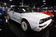 Lancia Delta Integrale Evolutione. 1993 model, is on display in a private collection in Bucharest, Romania stock images