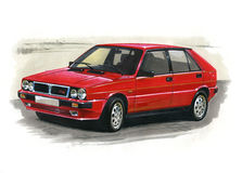 Lancia Delta Integrale Stock Images