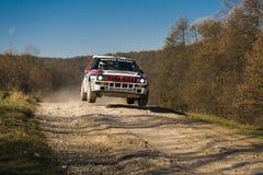 Lancia delta Integrale współzawodniczy przy rocznym Zlotnym Galicia Zdjęcia Stock