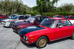 Lancia Delta And Lancia Fulvia Cars Royalty Free Stock Image