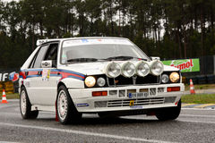 Lancia delta  during Rally Verde Pino 201 Stock Image