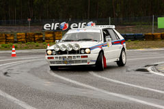 Lancia delta during Rally Verde Pino 2012 Royalty Free Stock Photography