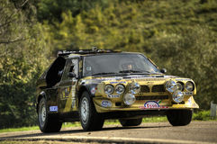 Lancia Delta S4. On race during the 10th edition of Rally Legend  historical rally in San Marino repubblic ; 14th october 2012 Royalty Free Stock Image