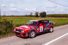 Lancia Delta Vintage Rally Car Royalty Free Stock Photo