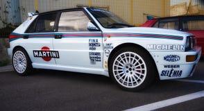 LANCIA delty EVO HF bieżnego samochodu stary wiec obrazy royalty free