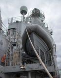 Lancia di salvataggio a bordo della nave Immagini Stock