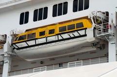 Lancia di salvataggio della nave di passeggero Fotografia Stock