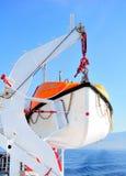 Lancia di salvataggio su una nave da crociera Fotografie Stock Libere da Diritti