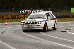 Lancia-Dreieck während der Sammlung Verde Pino 2012 Lizenzfreie Stockfotografie