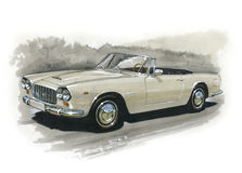 Lancia Flaminia GT 3C illustration de vecteur