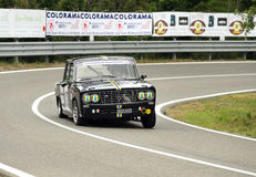 Lancia fulvia 2c. A Lancia Fulvia 2c attends the 31th edition of Coppa del Chianti Classico  a competition race of hill-climb for Historical cars valid for Royalty Free Stock Image