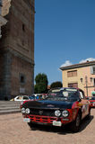 Lancia Fulvia HF-circuito di Zingonia 2014 Royaltyfria Bilder