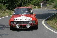 Lancia Fulvia 1600 hf rally car Stock Photography