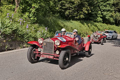 Lancia Lambda tipo 221 Spider Casaro (1928) in Mille Miglia 2016 Stock Photo