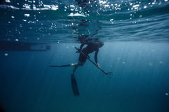 Lancia-pescatore fotografie stock