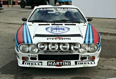 Lancia rally 037. Exhibition lancia 037 in the circuit of Catalonia Stock Images
