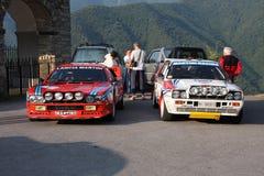 Lancia Rally 037 and Lancia Delta Integrale Royalty Free Stock Photo