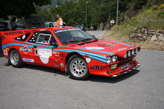 Lancia Rally 037. At the start of the first special stage of the rally of the Imperia valleys Royalty Free Stock Image