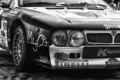 LANCIA SAMLAR 037 1984 som den gamla tävlings- bilen samlar Royaltyfri Bild