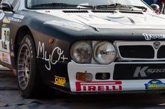 LANCIA SAMLAR 037 1984 som den gamla tävlings- bilen samlar Fotografering för Bildbyråer