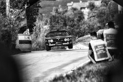 LANCIA SAMLAR 037 som den gamla tävlings- bilen samlar Royaltyfri Bild