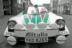 Lancia sponsored racing car Royalty Free Stock Images