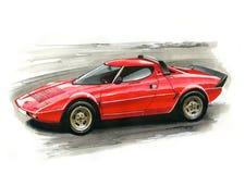 Lancia Stratos illustration libre de droits