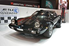 88th Geneva International Motor Show 2018 - Lancia Stratos. The Lancia Stratos HF Tipo 829, widely and more simply known as Lancia Stratos, is a sports car and Stock Photo
