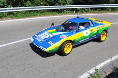 Lancia Stratos -Vernasca Silver Flag 2011 Royalty Free Stock Images
