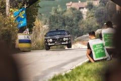 LANCIA wiecu 037 bieżnego samochodu stary wiec Obrazy Royalty Free